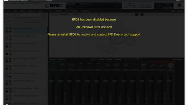 BFD3.4エラー